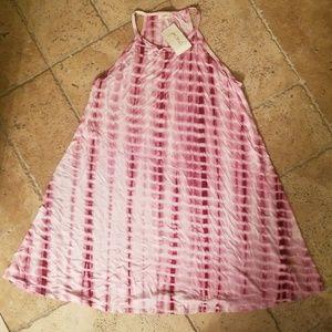 Berry tie dye dress/tunic 2X